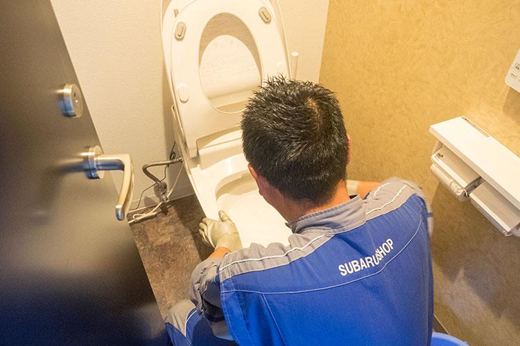 始業前活動 トイレ